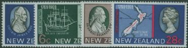 NZ SG906-9 Bicentenary of Captain Cook's Landing in New Zealand set of 4